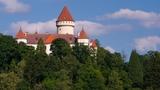 Vídeňská snídaně na balkóně zámku Konopiště