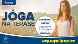 Letní lekce jógování na terase Aquapalace Praha