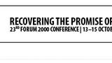 Konference FORUM 2000
