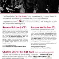 Charitativní jazzový koncert v Praze!
