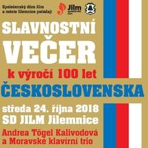 Slavnostní večer k výročí 100 let Československa
