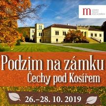 Podzim na zámku v Čechách pod Kosířem