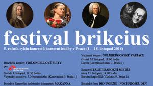 Festival Brikcius 2016 - 5. ročník cyklu koncertů komorní hudby v Praze