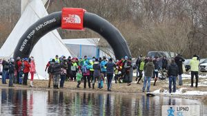 Lipno Ice Marathon v Černé v Pošumaví
