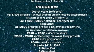 Noc sokoloven v T. J. Sokol Praha – Hanspaulka