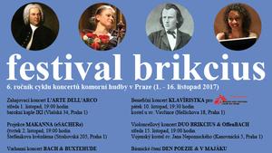 Festival Brikcius - 6. ročník cyklu koncertů komorní hudby v Praze