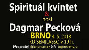 Spirituál kvintet a host Dagmar Pecková