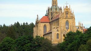 Mše svatá sv. Nejsvětějšího srdce Panny Marie v klášteře Kladruby