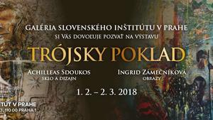 """Výstava """"Trójsky poklad"""" v Slovenskom inštitúte v Prahe"""