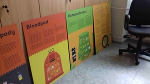 Panelová výstava o třídění odpadu a kompostování