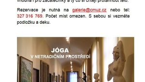 Jóga v netradičním prostředí, jóga v galerii