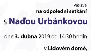 Odpolední setkání s Naďou Urbánkovou