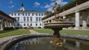 Otevřená sala terrena na zámku Lysice