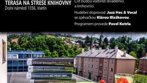 Letní čtení na střeše Masarykovy veřejné knihovny Vsetín