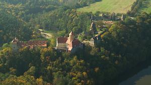 Vystoupení skupiny historického šermu Collegium Armatum na hradě Veveří