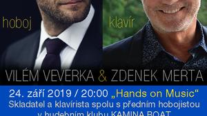 VILÉM VEVERKA & ZDENEK MERTA/HANDS ON MUSIC - HOBOJ A KLAVÍR/PRŮNIK ŽÁNRŮ: PIAZZOLA - MORRICONE - MERTA