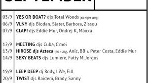 U Bukanýra - House Boat Mucis Bar - program září 2019