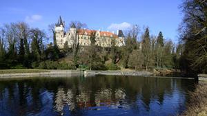 Oživená zámecká kuchyně na zámku Žleby