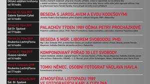 Muzeum T. G. M. Rakovník - Doprovodné programy k výstavám 1989. Nezapomínáme. Připomínáme.