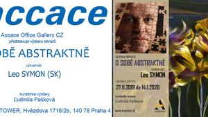 """Výstava obrazů """"O sobě abstraktně"""" výtvarník Leo Symon"""