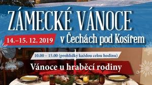 Vánoce na zámku v Čechách pod Kosířem o víkendu 14. a 15. prosince
