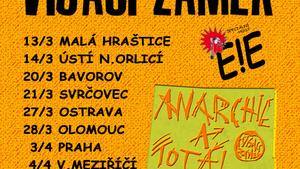 VISACÍ ZÁMEK/KŘEST DESKY ANARCHIE A TOTAL CHAOS/Speciální host: E!E