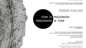 Monumentální site specific výstava Tomáše Polcara - Tvar je prázdnota - prázdnota je tvar