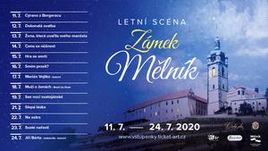Letní scéna Divadla na Maninách na zámku Mělník