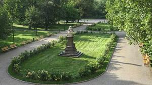 Kladení věnců k pomníku Petra Strozziho