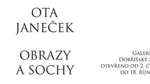 Obrazy a sochy Oty Janečka na zámku Dobříš