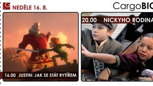 CargoBIO - kino na lodi 16.8.: Justin: Jak se stát rytířem / Nickyho rodina