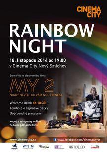 """Rainbow Night v Cinema City zve na předpremiéru nového českého filmu """"MY 2"""" a bohatou tombolu"""