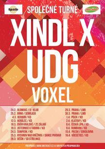 Společné turné – XINDLa X, UDG a VOXELa – začíná již v únoru