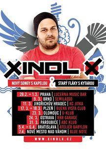 XINDL X na jaře 2017 zahraje na turné NOVÝ SONGY S KAPELOU & STARÝ FLÁKY S KYTAROU