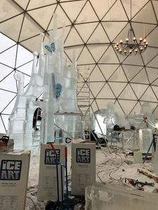 Sochaři dokončili ledové sochy ve špindlerovském LEDÁRIU