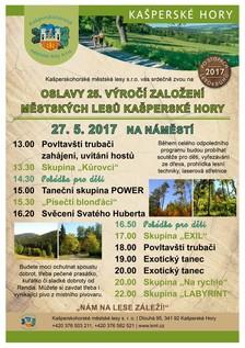 Oslavy 25. let výročí Kašperskohorských městských lesů