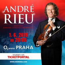 Houslový virtuos a bavič André Rieu popáté v Praze. V roce 2018 přiveze do O2 areny zcela novou show
