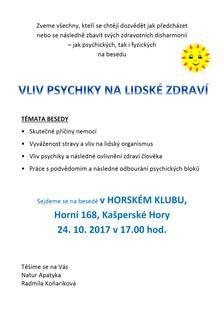 Vliv psychiky na lidské zdraví
