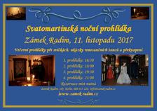 Svatomartinská noční prohlídka zámku Radim u Kolína