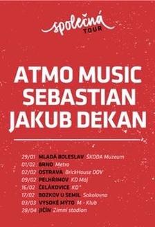 Společná tour - ATMO Music, Sebastian, Jakub Děkan v Pelhřimově