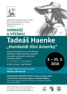 Výstava a vernisáž Tadeáš Haenke