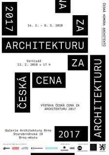 Výstava Česká cena za architekturu 2017