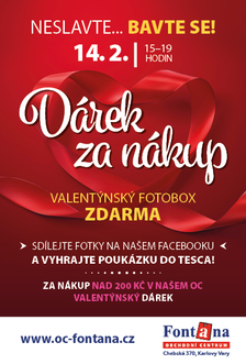 Valentýn 14.2. neslavte… Bavte se! v OC Fontána Karlovy Vary
