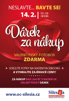 Valentýn - 14.2. neslavte… Bavte se! v OC Silesia Opava