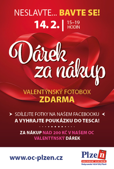 Valentýn 14.2. neslavte… Bavte se! v OC Plzeň