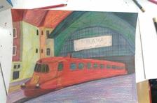 Kouzelný svět na kolejích- výstava kreslíře s poruchou autistického spektra