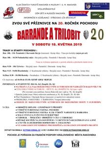 20. ročník oblíbeného pochodu Barrande a trilobit