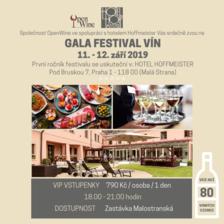 GALA FESTIVAL VÍN/Akce je určena pouze pro osoby starší 18 let./www.hoffmeister.cz