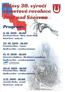 Oslavy 30.výročí sametové revoluce - Zruč nad Sázavou